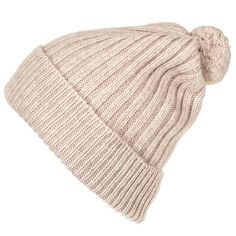 Chunky Knit Cream Cashmere Bobble Hat (€70) ❤ liked on Polyvore featuring accessories, hats, beanies, headwear, ribbed beanie, slouch beanie, slouchy hat, slouch hat and slouchy beanie hats