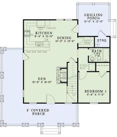 Add the upstairs at a later time or not at all.  Houseplans.com Bungalow / Craftsman Main Floor Plan Plan #17-2450