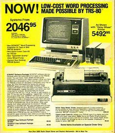 Look at the price of that desktop! // TRS-80 in Radio Shack Brochure 1980 Eighties 80s by Whiskeygonebad, via Flickr