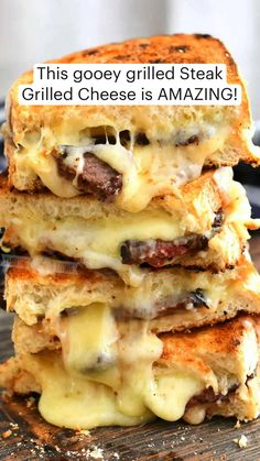 Fun Baking Recipes, Easy Delicious Recipes, Cooking Recipes, Yummy Food, Grilled Cheese Recipes, Beef Recipes, Soup And Sandwich, Grilled Sandwich Ideas, Sammy