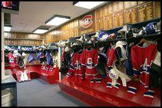 Equipements propre;prêt pour le prochain match. Montreal Canadiens, Montreal Ville, Nhl, Temple, Temples