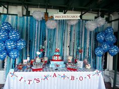 """Photo 1 of Airplanes & Clouds / Baby Shower/Sip & See """"Come Fly with Me"""" - Modern Baby Shower Niño, Boy Baby Shower Themes, Baby Shower Cakes, Shower Party, Baby Shower Parties, Baby Shower Decorations, Airplane Baby Shower Cake, Airplane Party, Babyshower"""