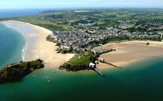 Tenby beach declared most beautiful in Europe (From Western Telegraph) Carmarthen Bay, Wales Beach, Pembrokeshire Wales, South Wales, Study Abroad, Holiday Destinations, Aerial View, Small Towns, Tourism