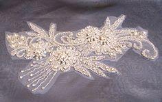 Rhinestone Applique for Wedding Dress Bridal Gown by gebridal