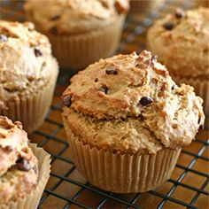 Peanut Butter Banana Chocolate Chip Muffins....These look Yummy!!