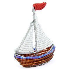 Fathers Day Gift Idea - Beaded Beadworx Minimal, Sailboat| Grass Roots Creations