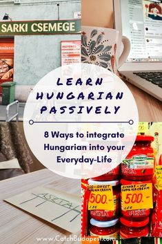 Learn Hungarian Passively: 8 Ways to integrate Hungarian into your Everyday-Life. You don't have to sit down and study in order to catch up on learning Hungarian. See our 8 tips for integrating the language into your everyday-life. Foreign Language Teaching, Life Learning, Background Information, German Language, Integrity, Hungary, Budapest, Languages, Study