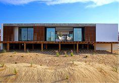 Una villa sulle dune di sabbia