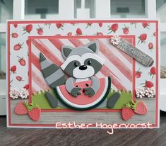 Birthday Card Pop Up, Racoon, Marianne Design, Punch Art, Making Ideas, Toy Chest, Kittens, Creations, Card Making