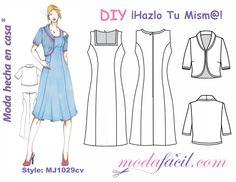 Descarga los patrones del Vestido y la Chaqueta Torera disponibles en 14 tallas desde la Tallas PETITE hasta las Tallas EXTRAGRANDES