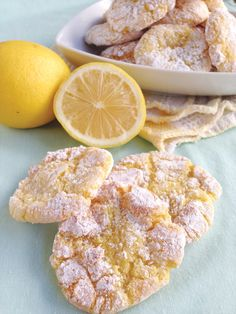Lemon Crackle Cookies from My Own Ideas blog