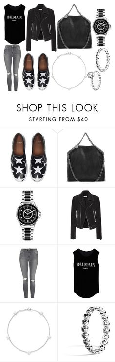 """Drinks"" by laura2703 ❤ liked on Polyvore featuring Givenchy, STELLA McCARTNEY, TAG Heuer, Balenciaga, Topshop, Balmain, Jennifer Meyer Jewelry and Pandora"