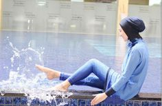 Splash!!!  The gorgeous Indah Nada Puspita having fun with her MADAMME BK!  Outfit:Turquoise Shiny blue  Online Store: www.madammebk.com  @indahnadapuspita #madammebk #indahnadapuspita #modestswimwear #modestswimsuit #burqini #islamicswimsuit #burquini #islamicswimwear #burkini #hijabfashion#Superexclusivefabric #hijabiswimwear #modestswimsuit #burkini #burquini #burqini #hijabswimsuit #paris #sunset #madeinfrance