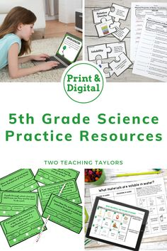 Full year of 5th grade science review activities that are standards aligned and fun for kids. Supports classroom lesson plans with worksheets, activities, anchor charts, interactive notebook pieces, vocabulary projects. Use in centers or stations. Includes some digital resources. Follows 5th grade TEKS for teaching curriculum. Teaching 5th Grade, 5th Grade Science, Science Student, Elementary Science, Teaching Science, Science Activities, Science Vocabulary, Critical Thinking Skills, Taylors