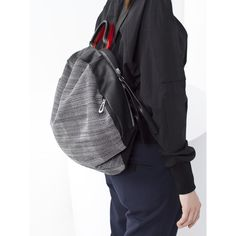 Moselle Laptop Backpack 13 & Tote Bag Concrete Herringbone Côte&Ciel | Design Is This