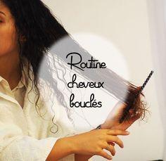 Routine cheveux bouclés