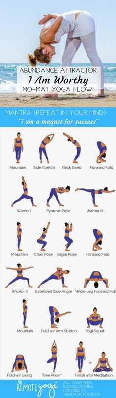 🤸 Practice Yoga Anywhere Without a Mat! Do you ever feel like a quick yoga c. 🤸 Practice Yoga Anywhere Without a Mat! Do you ever feel like a quick yoga class but dont have a mat? Print out this free Standing Only Yoga PDF to practice anywhere. Yoga Flow, Mat Yoga, Yoga Bewegungen, Yoga Moves, Yoga Fitness, Fitness Workouts, Sport Fitness, Yoga Routine, Exercise Routines