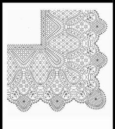Esquina Hairpin Lace Crochet, Crochet Motif, Crochet Stitches, Crochet Edgings, Cross Stitches, Crochet Shawl, Bobbin Lace Patterns, Bead Loom Patterns, Weaving Patterns