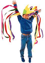 Family Fun 'Dress Like A Dragon' simple costume idea.