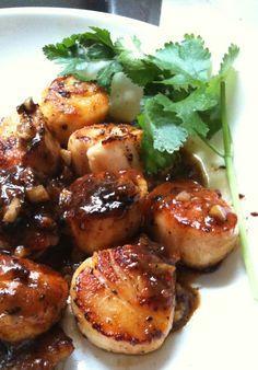 Seared scallops with orange glaze | Grace's Kitchen