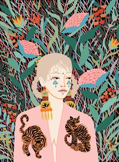 Art And Illustration, Illustrations And Posters, Fashion Illustrations, Korean Illustration, Illustration Fashion, Illustration Animals, Magazine Illustration, Pattern Illustration, Graphic Design Illustration