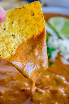 Copycat Chili's Queso Dip (Slow Cooker) from The Food Charlatan. I can't tell you exactly how much of this queso dip I can eat, because I would never be able to look you in the eye again! This is a copycat of the dip recipe served at Chili's, made in the slow cooker OR stove top. It's absolutely addictive and perfect for game day!#dip #copycat #velveeta #queso #chili #tortillachips #chips #appetizer #cheese #crockpot #recipe #slowcooker #diprecipe #parties #superbowl #gameday #milk #conqueso Velveeta Recipes, Appetizer Dips, Appetizers For Party, Appetizer Recipes, Chilis, Dip Recipes, Cooking Recipes, Healthy Recipes, Restaurant Recipes
