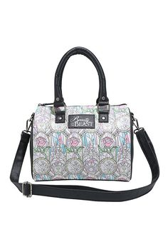 Loungefly Disney Beauty And The Beast Stained Glass Barrel Bag,