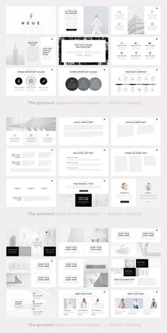 Neue, a minimalist PowerPoint template with more than 100 unique slides from SlidePro. Neue, a minimalist PowerPoint template with more than 100 unique slides from SlidePro. The 'Neue' PowerPoint template will help you to present your Powerpoint Examples, Powerpoint Design Templates, Presentation Design Template, Business Powerpoint Presentation, Ppt Design, Presentation Layout, Creative Powerpoint, Slide Design, Brochure Layout