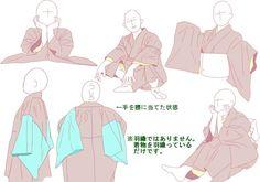 【ポーズ/和服4】着物袖 [3]