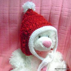 Christmas baby pixie hat - free pattern