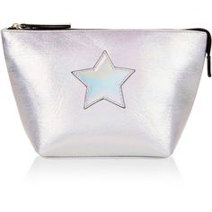 Accessorize Holographic Star Washbag (140 HRK) ❤ liked on Polyvore featuring bags