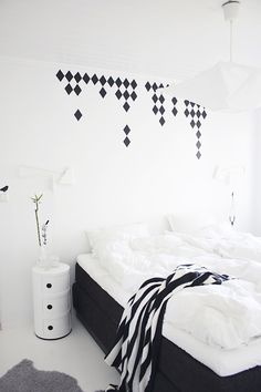 Our new black & white bedroom