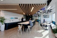 "Help staff members ""feel connected and safe in their roles"" during COVID-19, says Greenbox Architecture - Australian Design Review Office Fit Out, Staff Meetings, Fireside Chats, Brick Facade, Connection, Feelings, Architecture, Design, Home Decor"