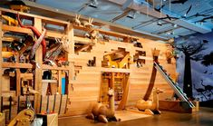 "This is a walk-in Noah's Ark by ""Handmade Charlotte"" at the Skirball Center in LA.  Lots of fun!"