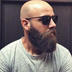 Bald and bearded