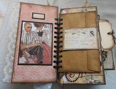 Creative Cafe: A Vintage Ladies Diary Mini Album