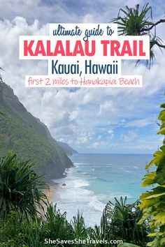Kauai, Hawaii has of the most famous trails and coastlines in the world. The Kalalau Trail is dangerous, but the first 2 miles make an awesome day hike! Here's your guide on what to expect, what to pack and the dangers of the Kalalau trail hike. #kauai #hawaii #hiking Hiking Hawaii | Hiking Kauai | Kauai Hawaii | Kalalau Trail Kauai Hawaii | Kalalau Trail Day Hike Hawaii Travel Guide, Maui Travel, Usa Travel, Travel Destinations, Hawaii Honeymoon, Kauai Hawaii, Hawaii Vacation, Beautiful Places To Visit, Cool Places To Visit