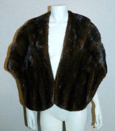 vintage mink stole 40s / 50s Mahogany brown JANDEL curved capelet jacket – Retro Trend Vintage