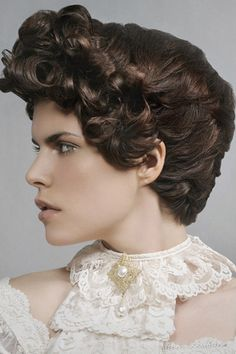 Victorian Style Hair with Plenty of Curly Locks