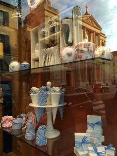 Patisserie window in Versailles idea for baby shower