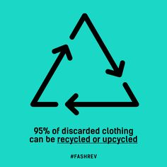 95% of discarded clothing can be recycled or upcycled #FASHREV