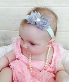 Baby Headband Baby Headbands Mint Baby by BabyButtonBowtique
