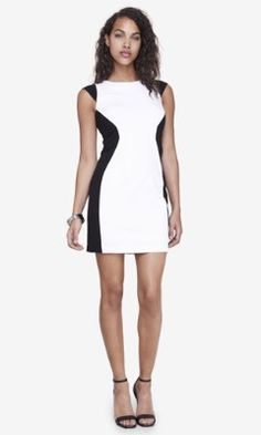 COLOR BLOCK SHEATH DRESS from EXPRESS