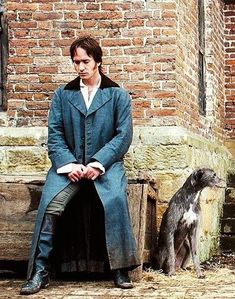 Mr. Darcy waits while Jane and her father have an important interview.