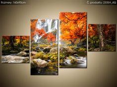 Tlačený obraz Jesenný vodopád 160x90cm 2335A_4Q