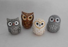polymer clay Little Owls