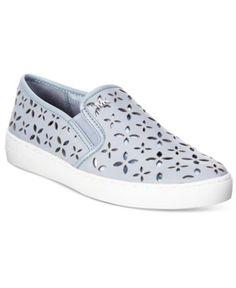 MICHAEL Michael Kors Keaton Floral Perforated Slip-On Sneakers   macys.com