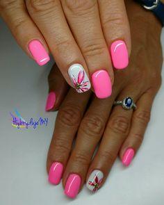 Best 11 Orchid and white filigree nail art. Bright and pretty❤ – SkillOfKing. Heart Nail Designs, Fingernail Designs, Pretty Nail Designs, Colorful Nail Designs, Toe Nail Designs, Acrylic Nail Designs, Fancy Nails, Pink Nails, Toe Nails