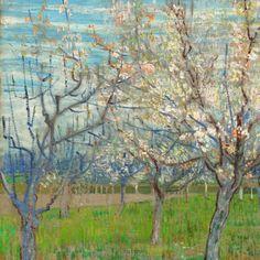 Vincent van Gogh - The Pink Orchard; Arles, beginning of April Oil on canvas, cm x cm, Van Gogh Museum, Amsterdam (Vincent van Gogh Foundation) Van Gogh Pinturas, Vincent Van Gogh, Van Gogh Museum, Art Van, Fleurs Van Gogh, Mark Keller, Van Gogh Arte, 7 Arts, Poster Art