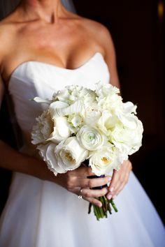 all white bride bouquet